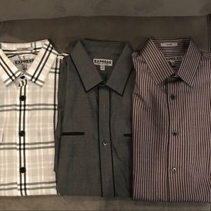 Express long sleeve button ups